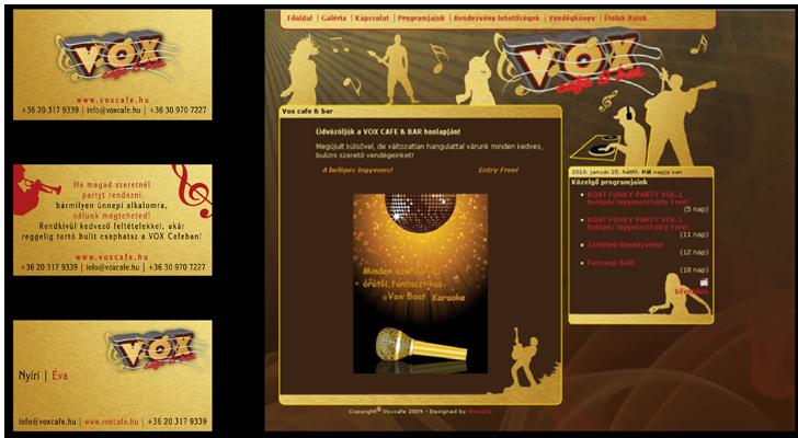 Wox Cafe arculat és weboldal tervezés 2007